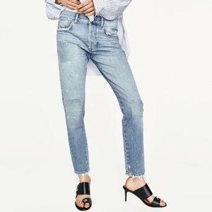 NWT Zara slim boyfriend 'veg repair' jeans - sz 8